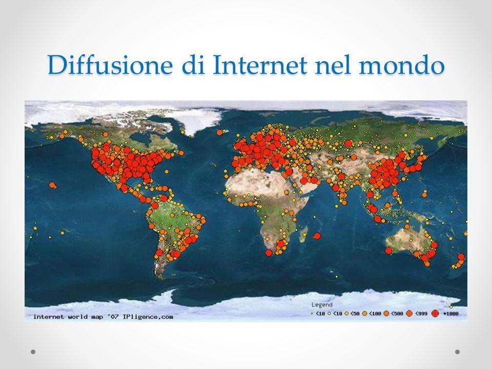 Diffusione di Internet nel mondo