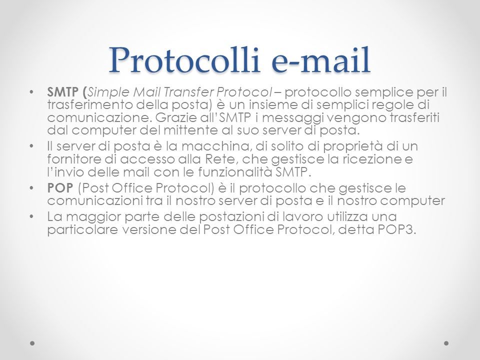 Protocolli e-mail