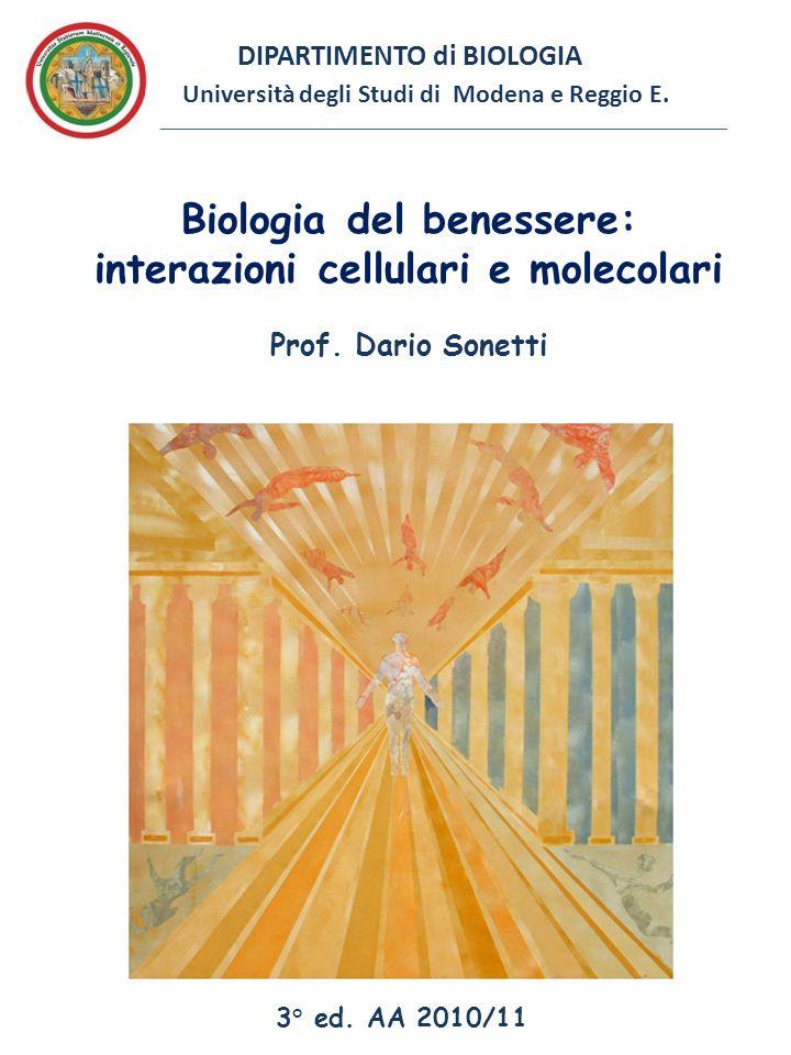 Biologia del benessere: interazioni cellulari e molecolari