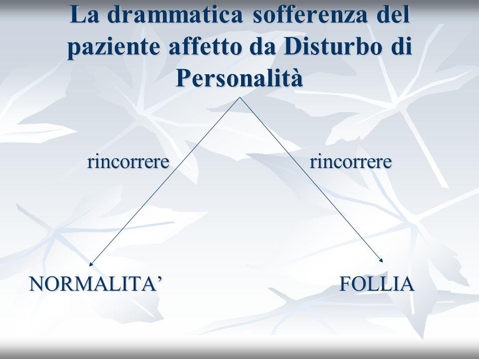 La drammatica sofferenza del paziente affetto da Disturbo di Personalità