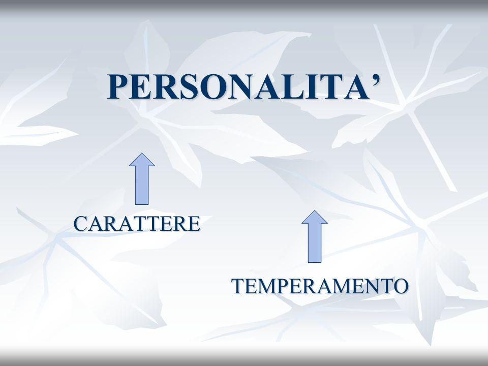 CARATTERE TEMPERAMENTO