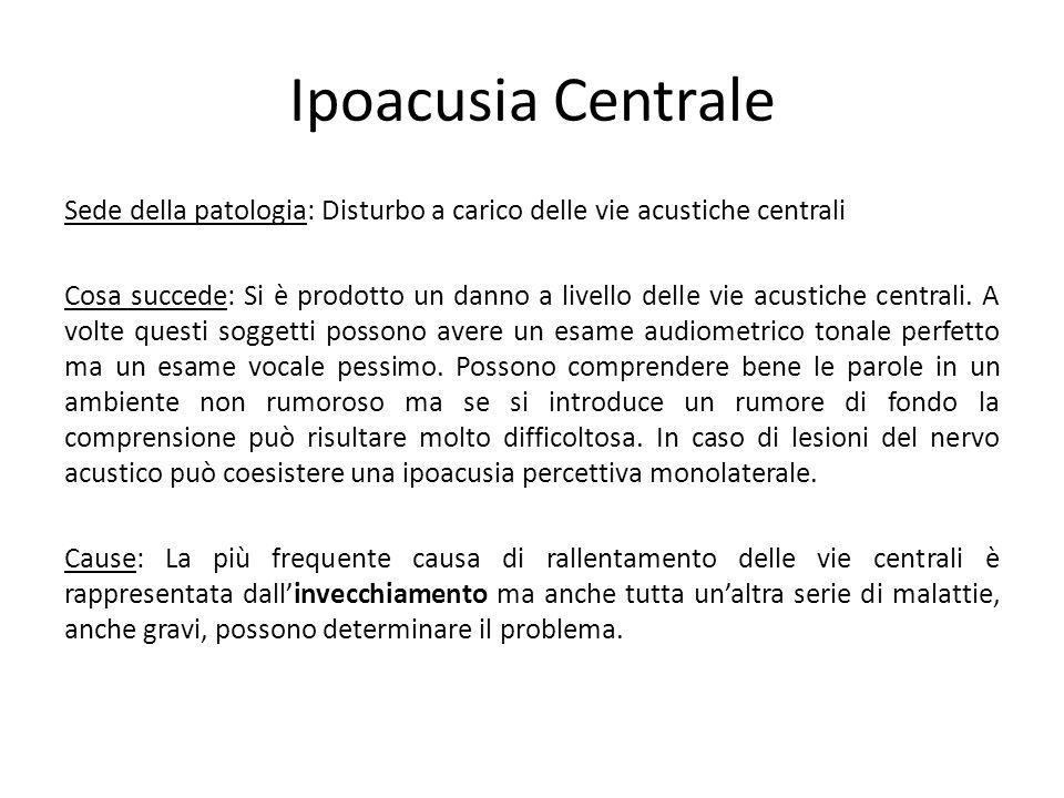 Ipoacusia Centrale