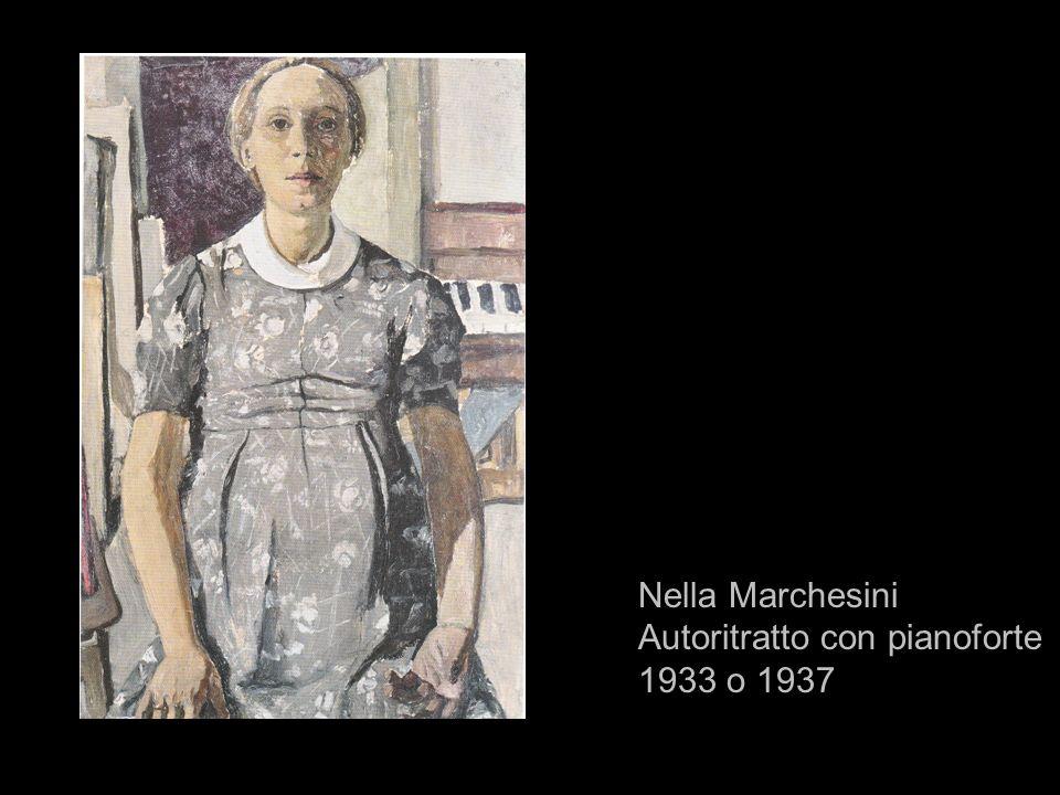 Nella Marchesini Autoritratto con pianoforte 1933 o 1937