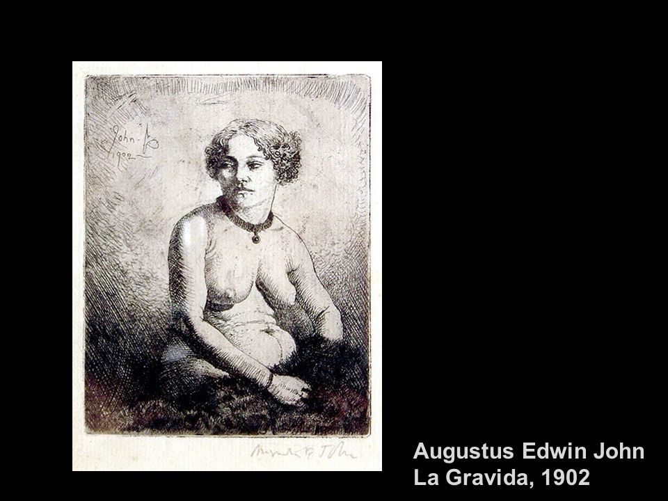 Augustus Edwin John La Gravida, 1902