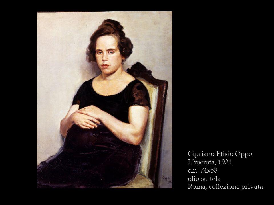 Cipriano Efisio Oppo L'incinta, 1921 cm. 74x58 olio su tela Roma, collezione privata