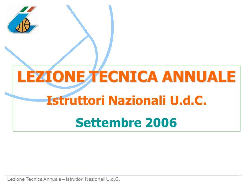 LEZIONE TECNICA ANNUALE Istruttori Nazionali U.d.C.