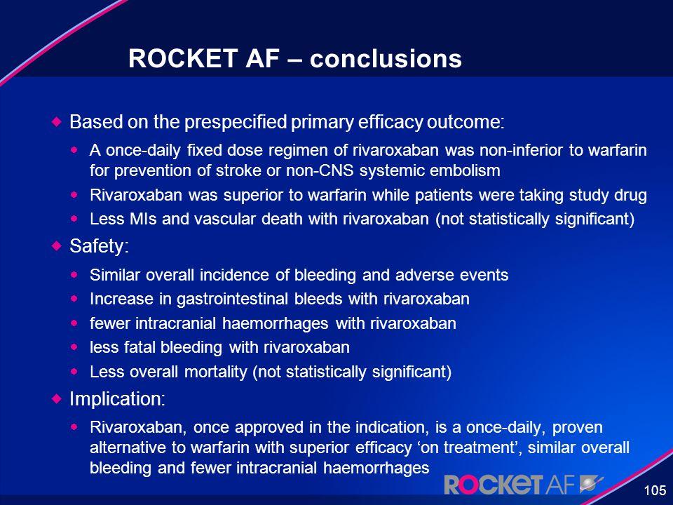 ROCKET AF – conclusions