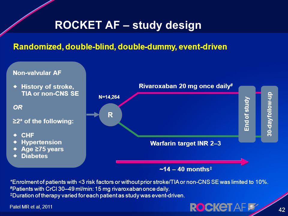 ROCKET AF – study design