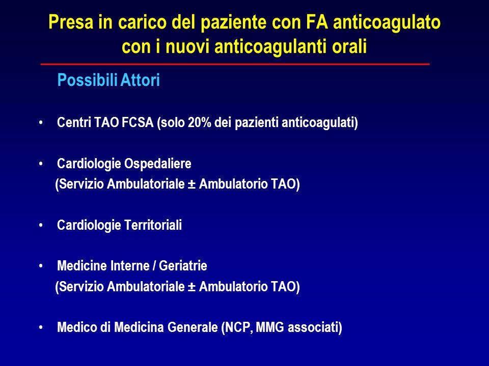Presa in carico del paziente con FA anticoagulato con i nuovi anticoagulanti orali