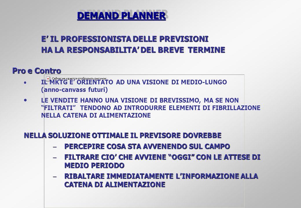 DEMAND PLANNER E' IL PROFESSIONISTA DELLE PREVISIONI