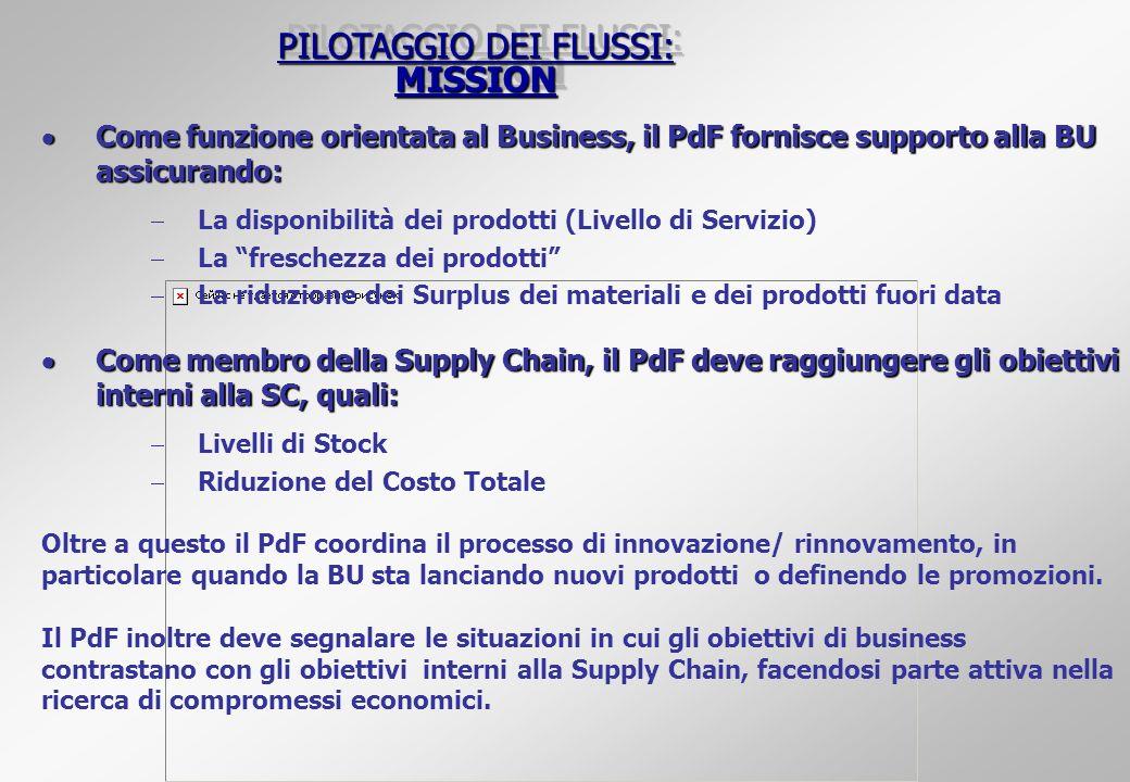 PILOTAGGIO DEI FLUSSI: MISSION