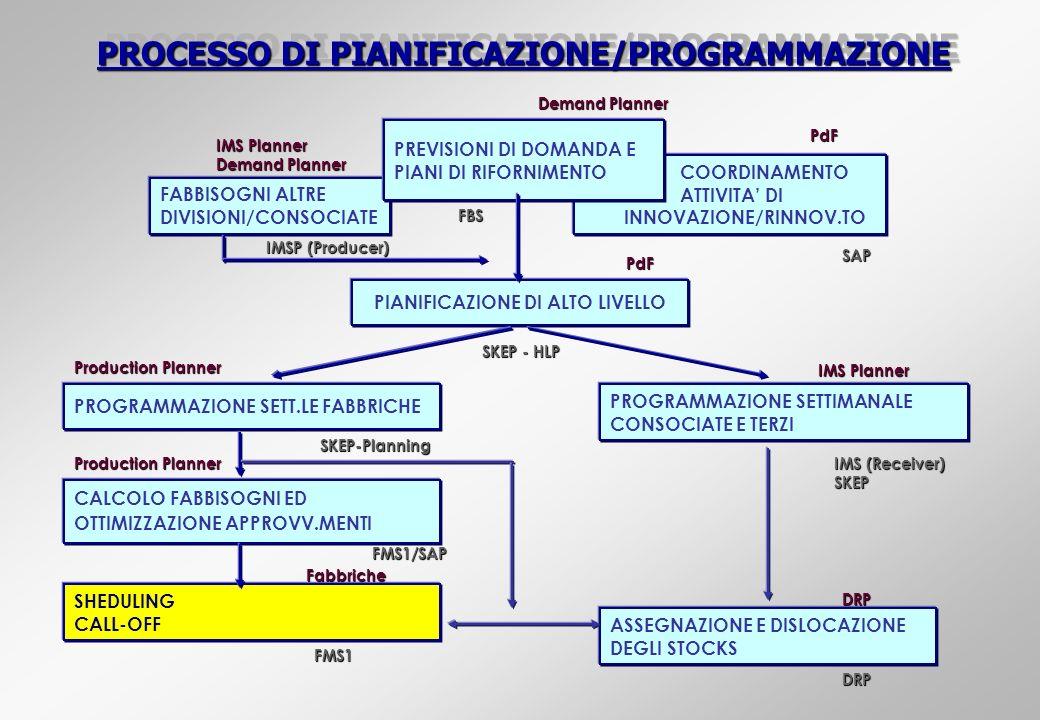 PROCESSO DI PIANIFICAZIONE/PROGRAMMAZIONE