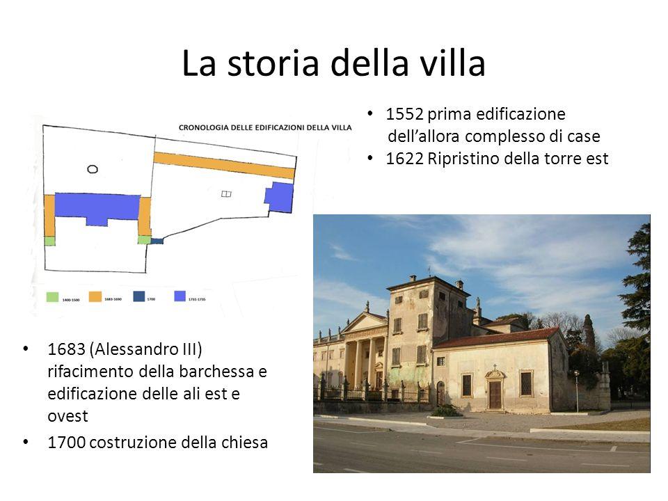 La storia della villa 1552 prima edificazione