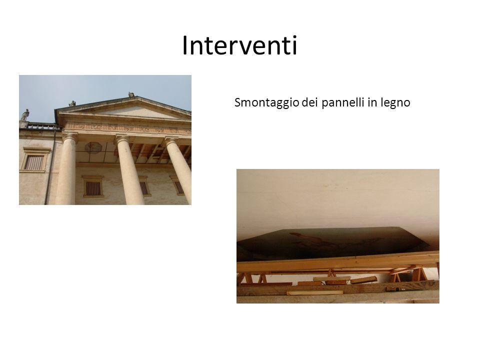 Interventi Smontaggio dei pannelli in legno