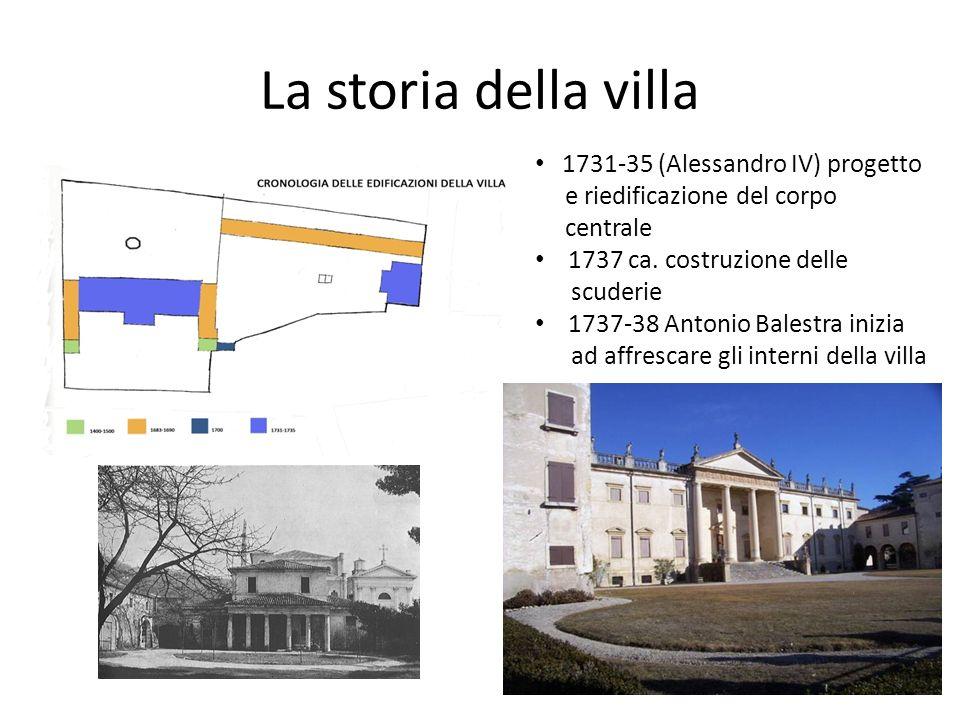 La storia della villa 1731-35 (Alessandro IV) progetto
