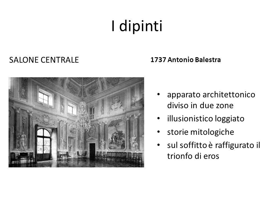 I dipinti SALONE CENTRALE apparato architettonico diviso in due zone