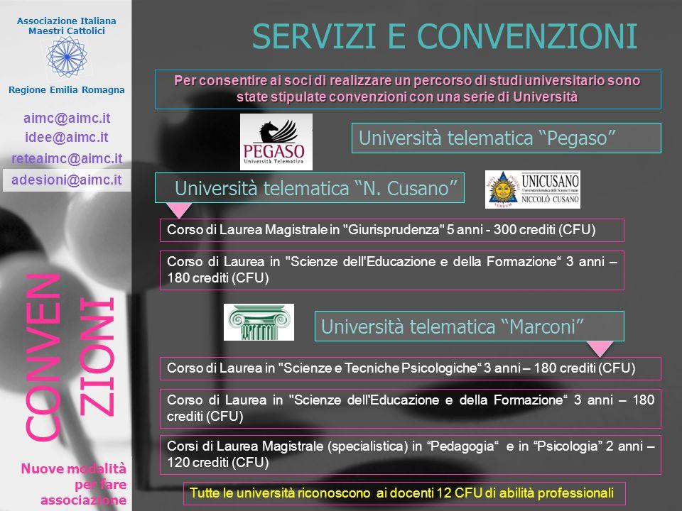 CONVEN ZIONI SERVIZI E CONVENZIONI Università telematica Pegaso