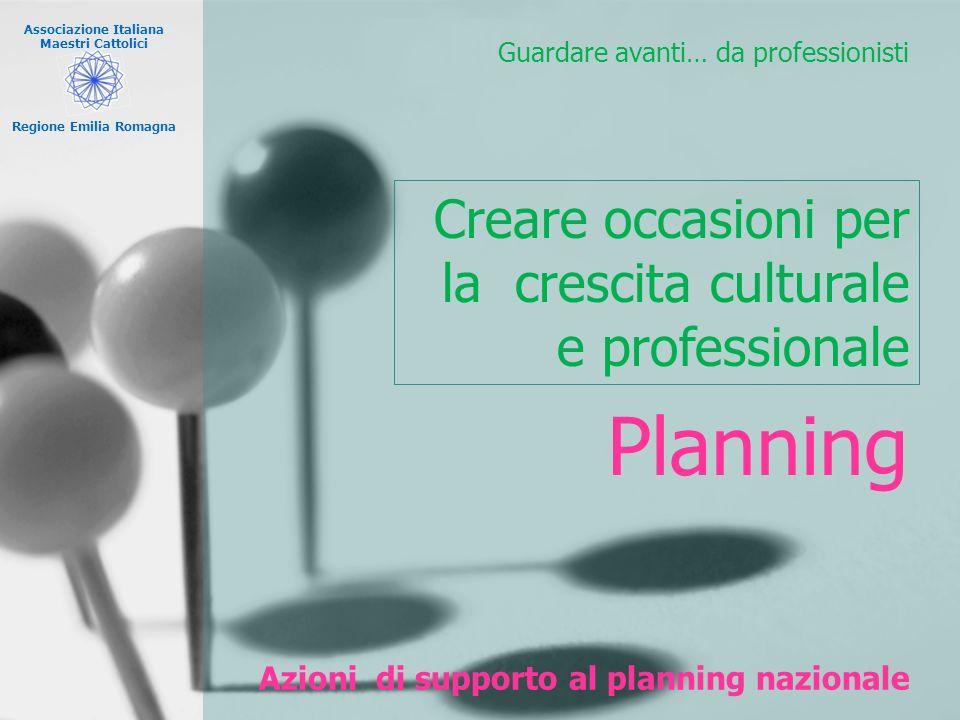 Azioni di supporto al planning nazionale