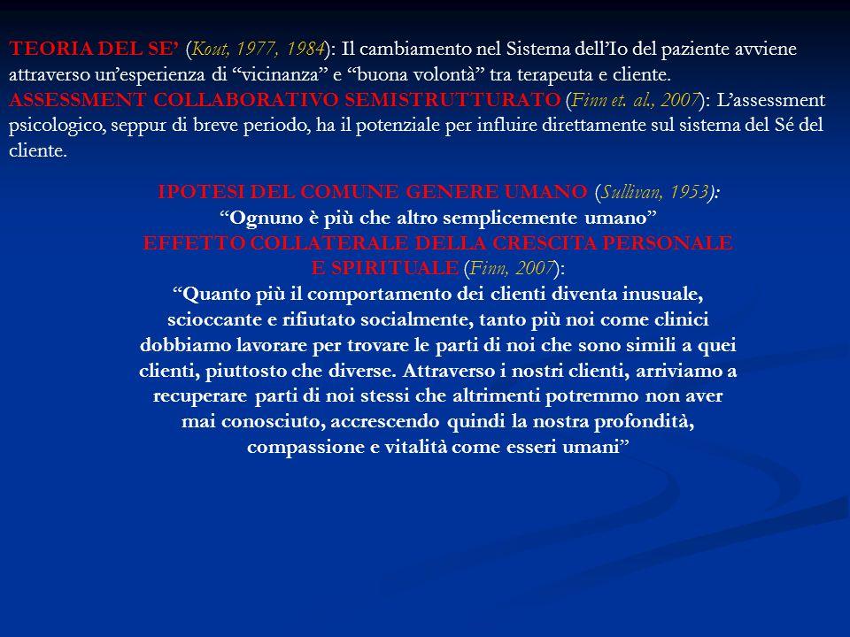 IPOTESI DEL COMUNE GENERE UMANO (Sullivan, 1953):