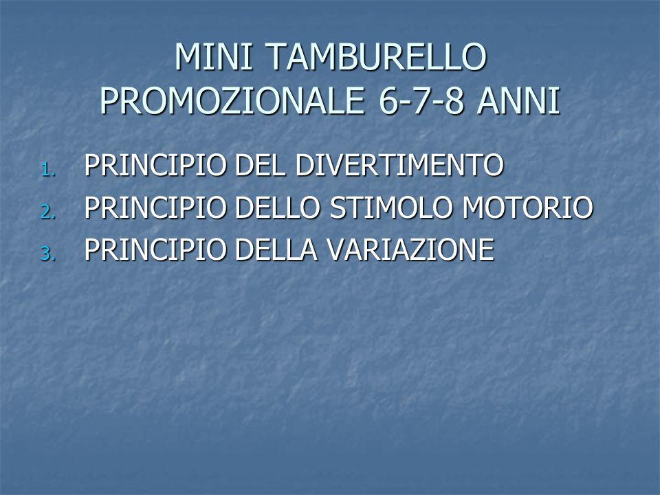 MINI TAMBURELLO PROMOZIONALE 6-7-8 ANNI