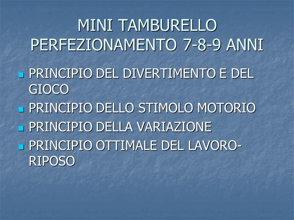 MINI TAMBURELLO PERFEZIONAMENTO 7-8-9 ANNI