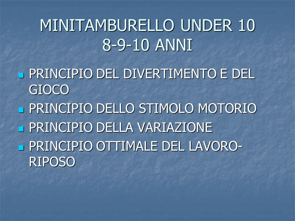 MINITAMBURELLO UNDER 10 8-9-10 ANNI