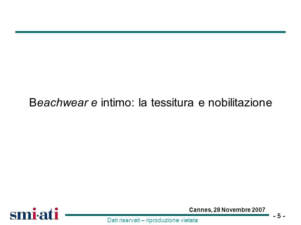Beachwear e intimo: la tessitura e nobilitazione