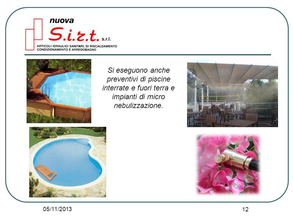 Si eseguono anche preventivi di piscine interrate e fuori terra e impianti di micro nebulizzazione.