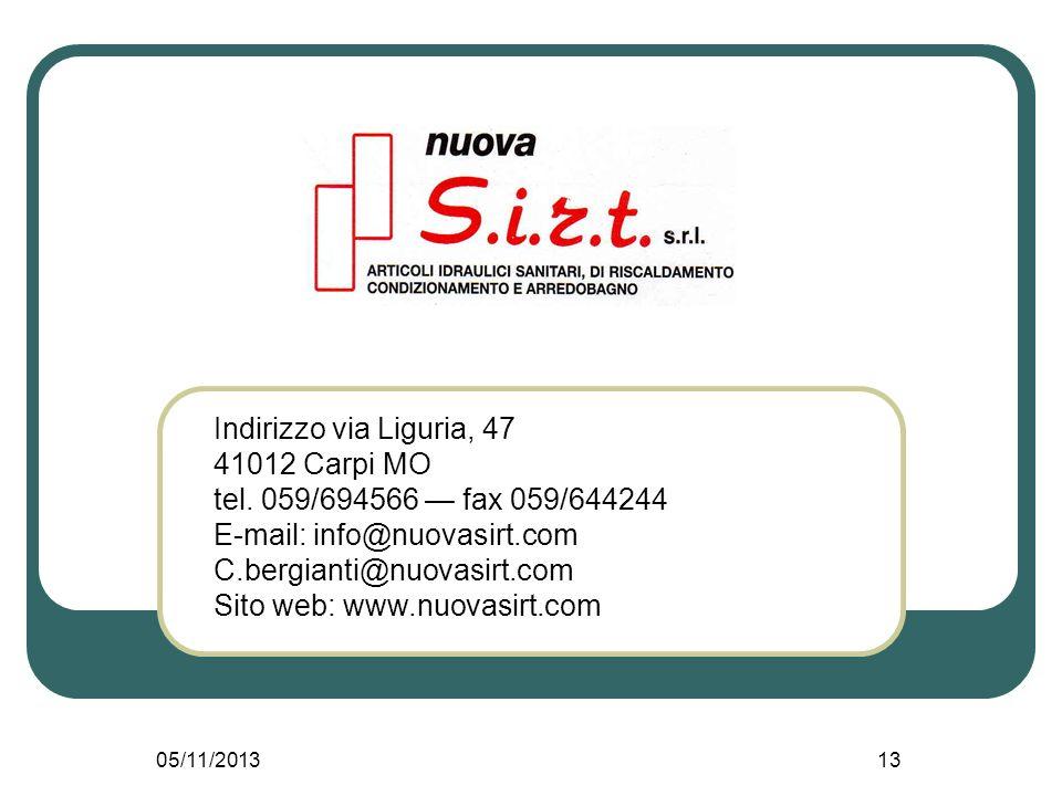 E-mail: info@nuovasirt.com C.bergianti@nuovasirt.com
