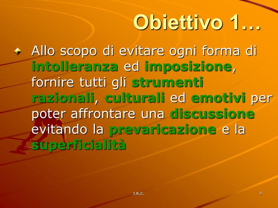 Obiettivo 1…