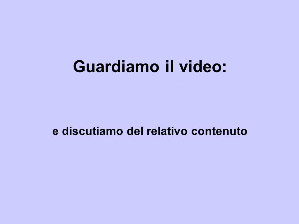 Guardiamo il video: http://www. alessandroprunesti