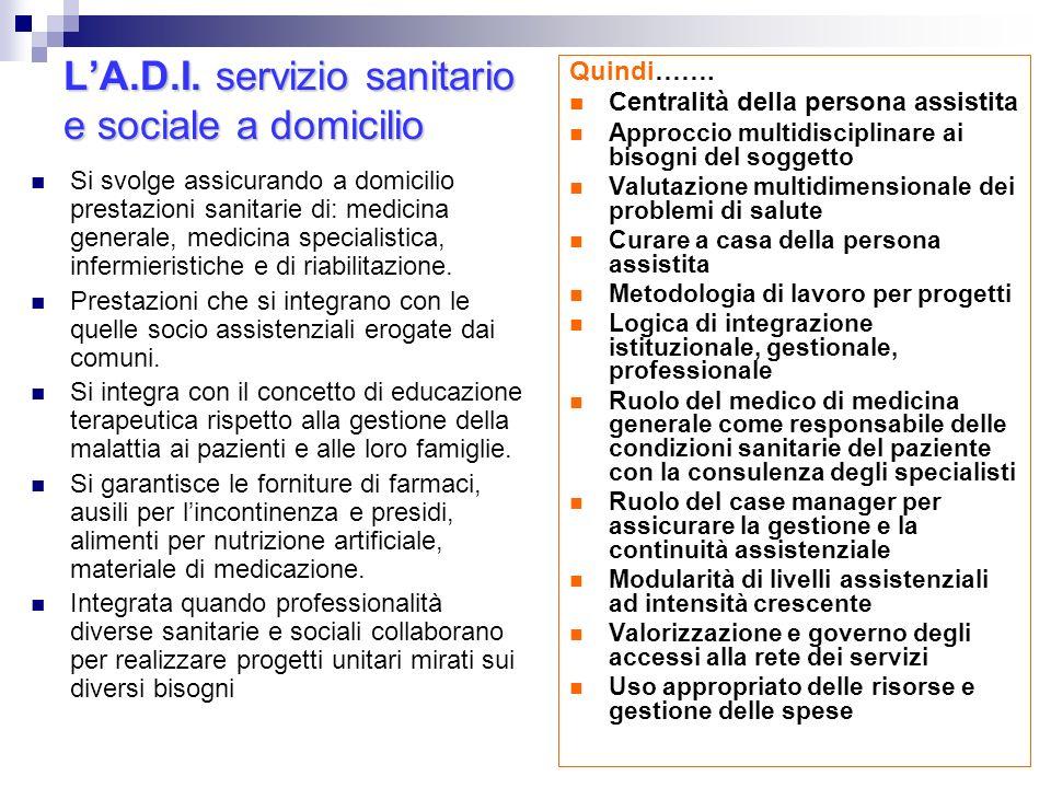 L'A.D.I. servizio sanitario e sociale a domicilio