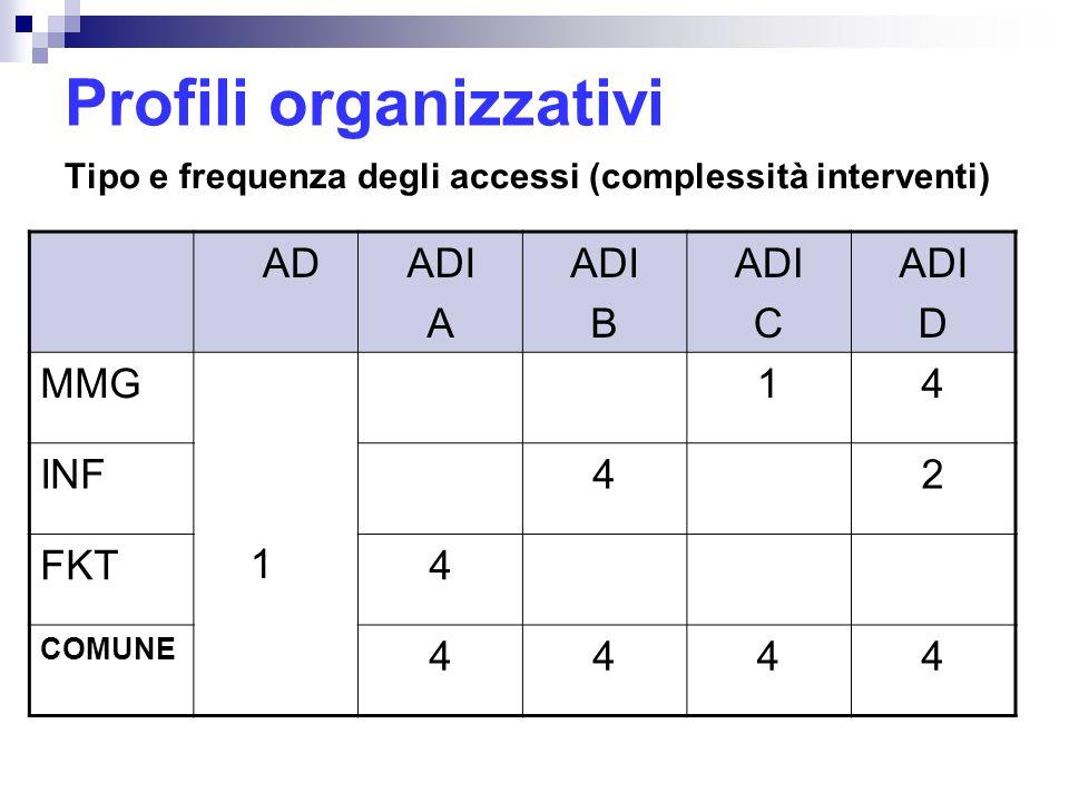 Profili organizzativi