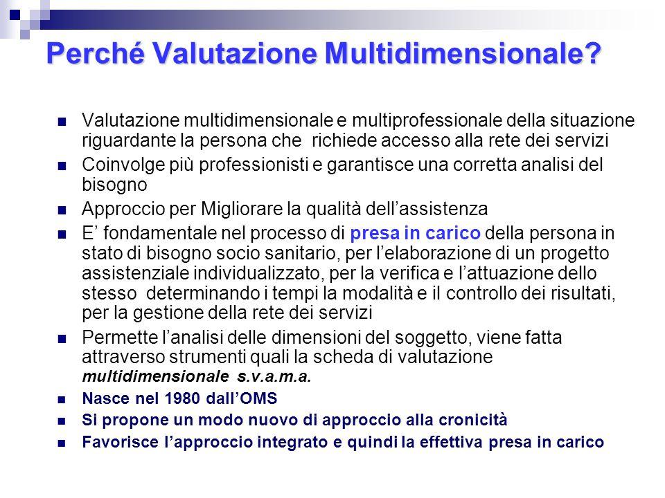 Perché Valutazione Multidimensionale