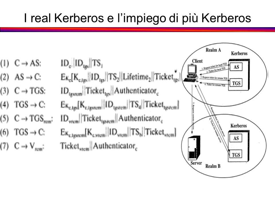 I real Kerberos e l'impiego di più Kerberos