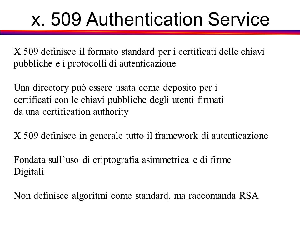 x. 509 Authentication Service