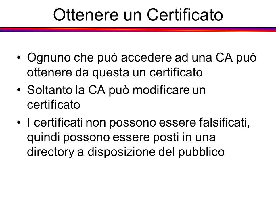 Ottenere un Certificato