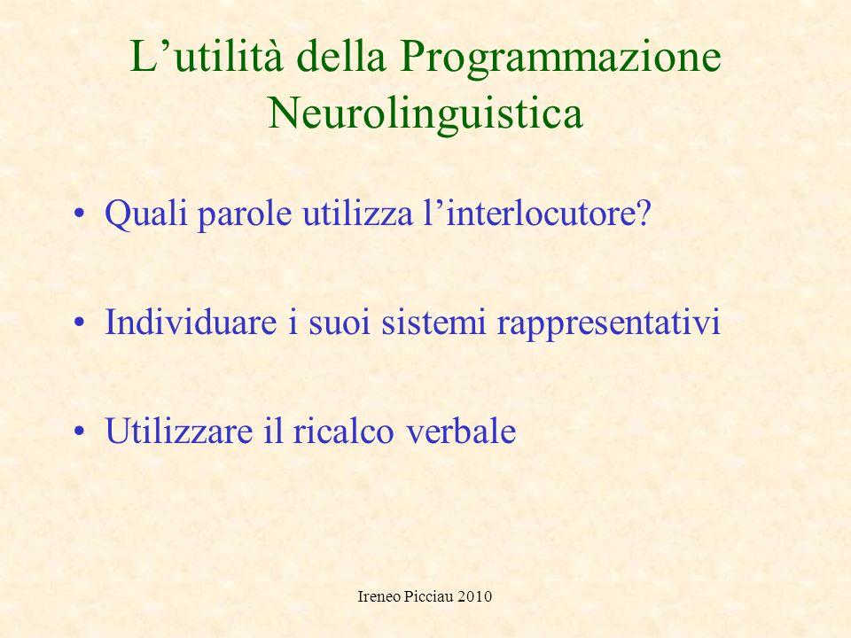 L'utilità della Programmazione Neurolinguistica