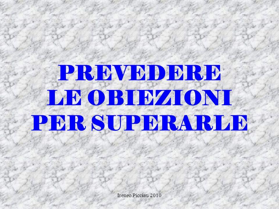 PREVEDERE LE OBIEZIONI PER SUPERARLE