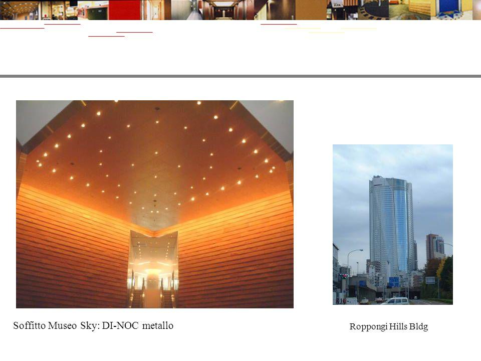 Soffitto Museo Sky: DI-NOC metallo