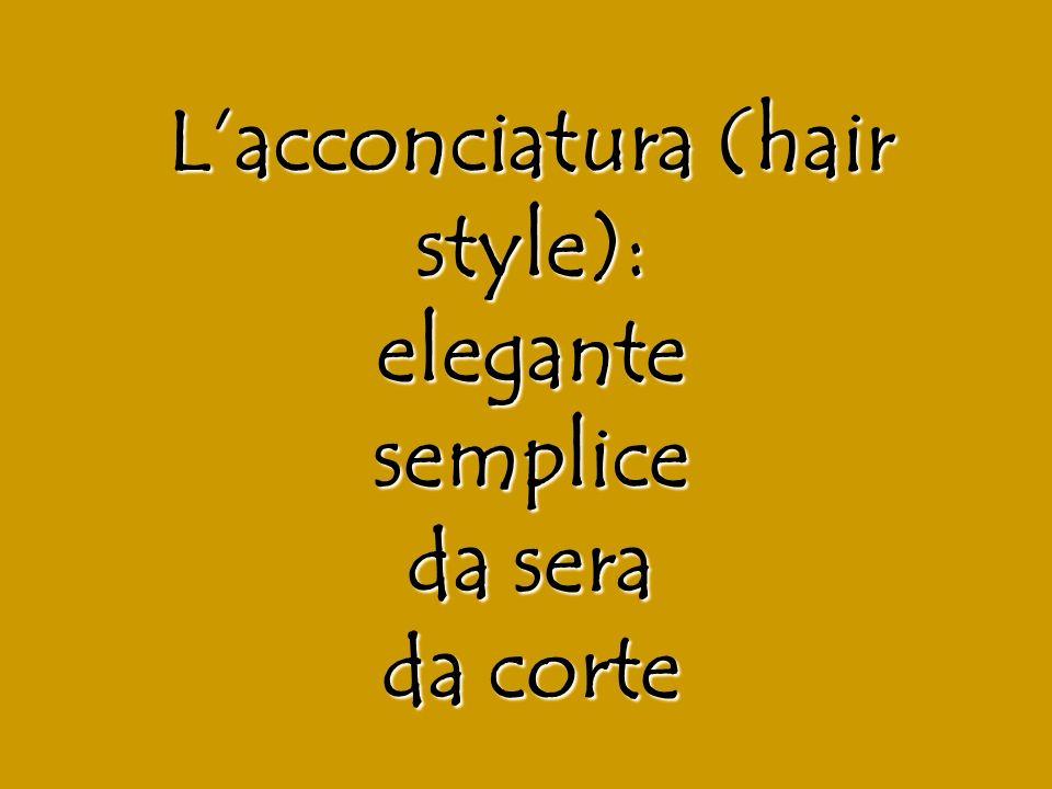 L'acconciatura (hair style): elegante semplice da sera da corte