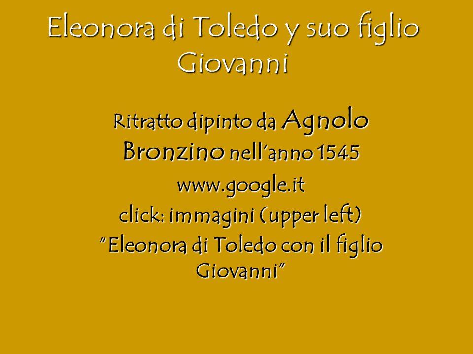 Eleonora di Toledo y suo figlio Giovanni