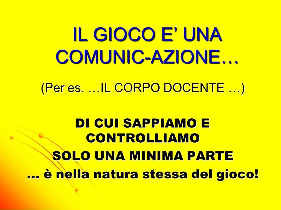 IL GIOCO E' UNA COMUNIC-AZIONE…