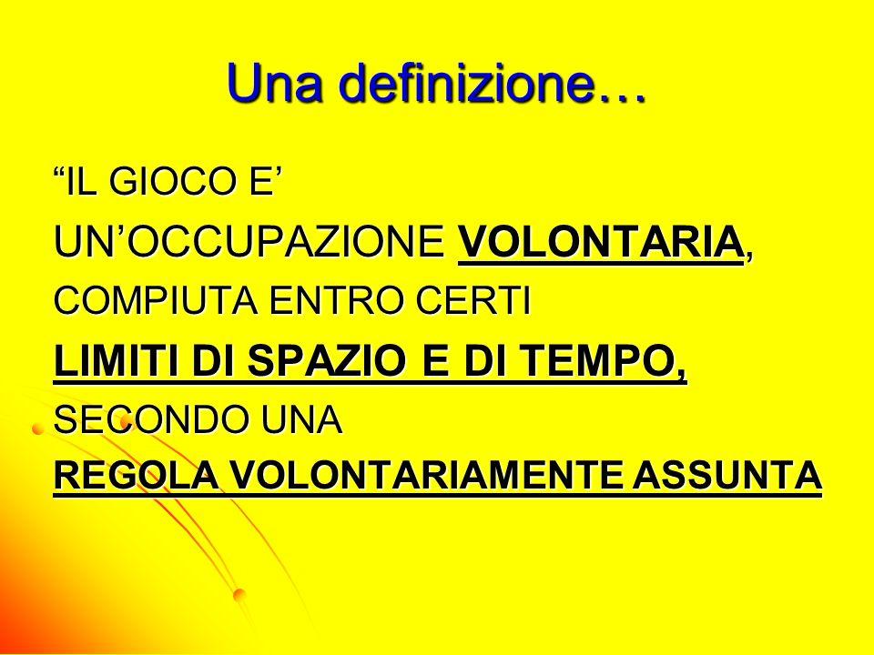 Una definizione… UN'OCCUPAZIONE VOLONTARIA,