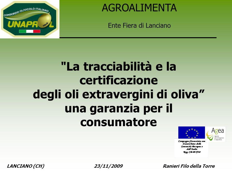 La tracciabilità e la certificazione degli oli extravergini di oliva