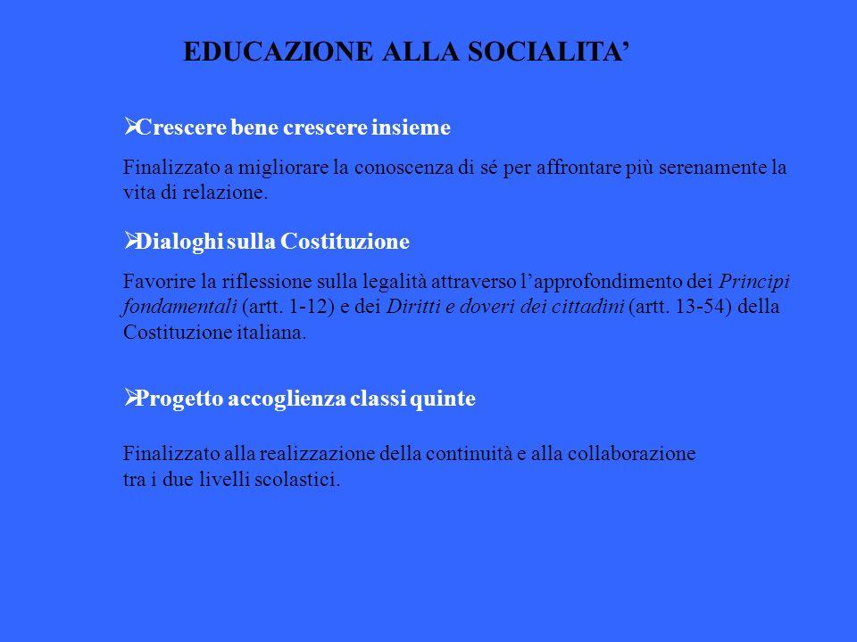 EDUCAZIONE ALLA SOCIALITA'
