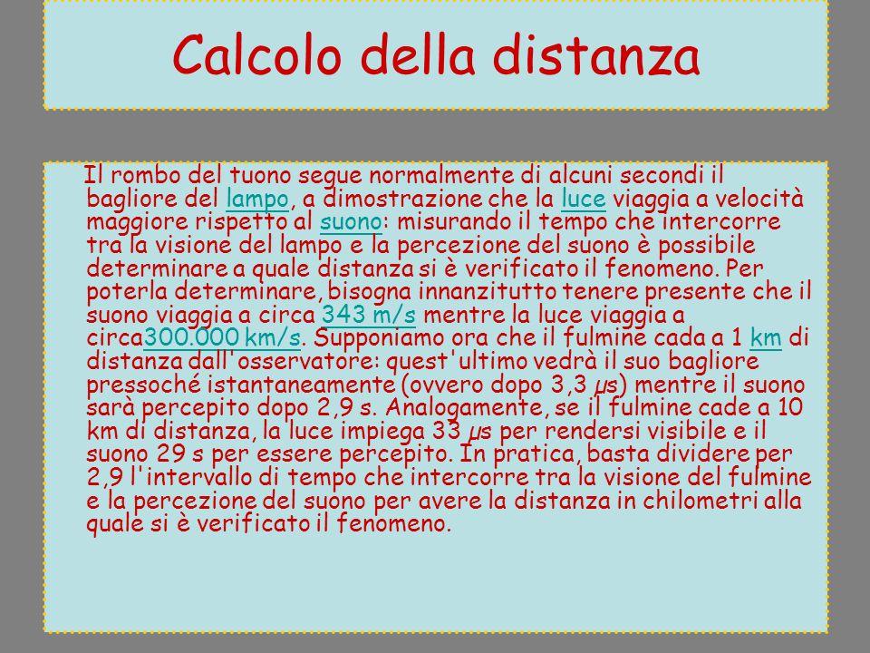 Calcolo della distanza