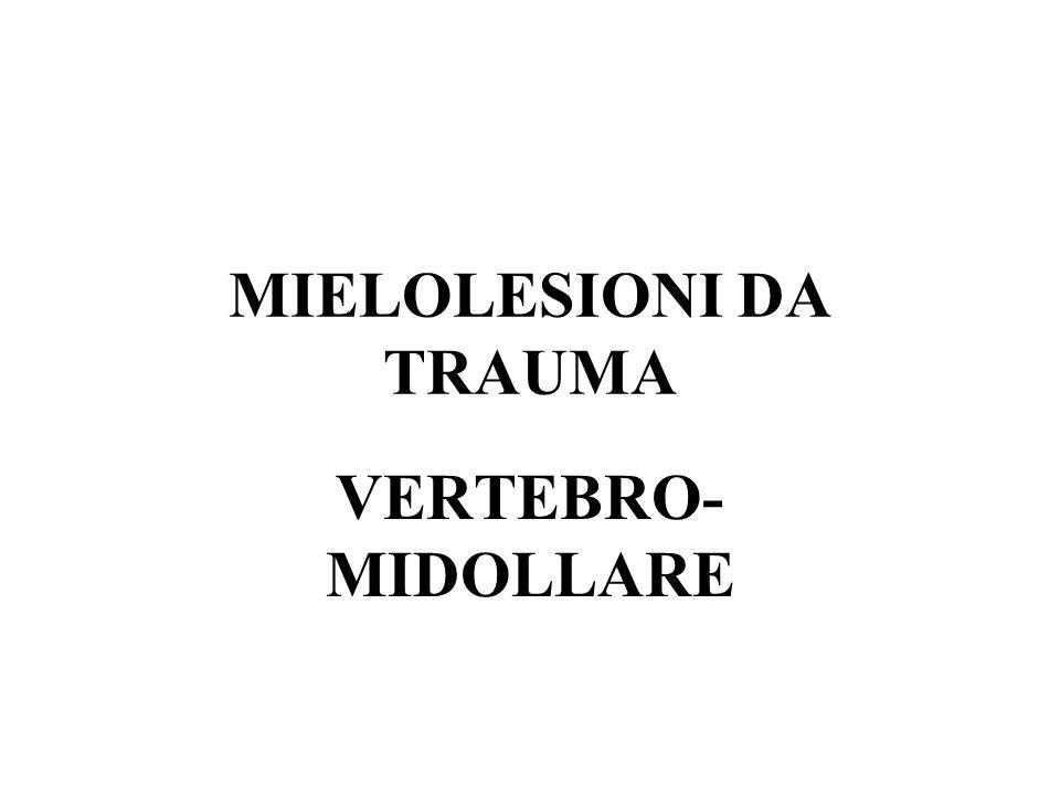 MIELOLESIONI DA TRAUMA