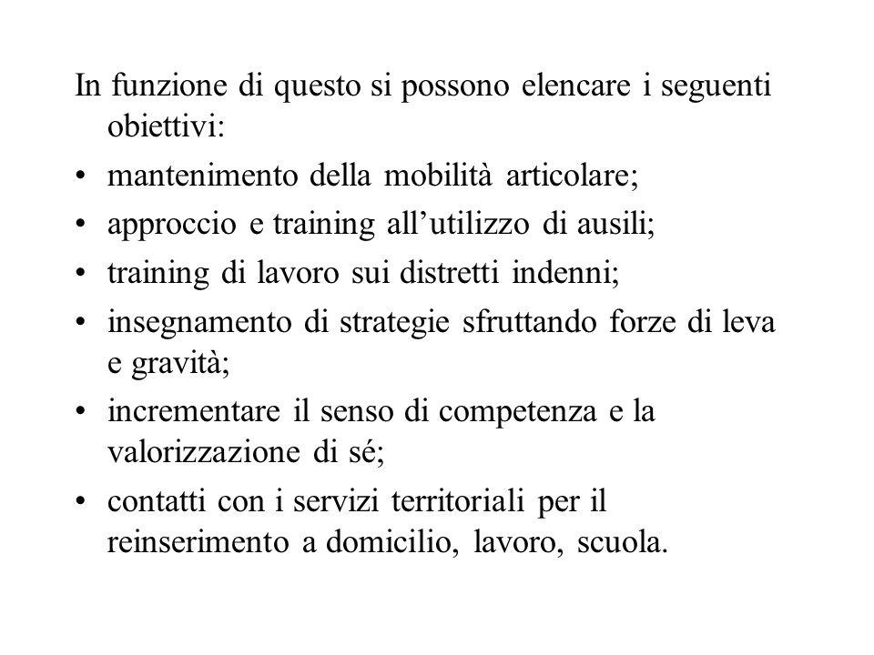 In funzione di questo si possono elencare i seguenti obiettivi: