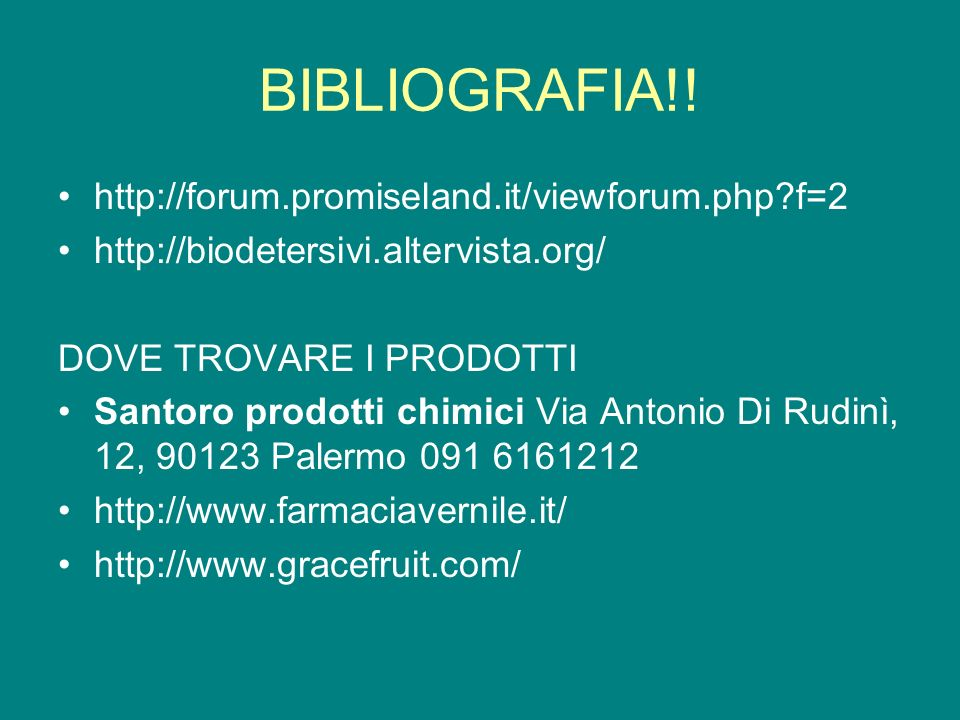 BIBLIOGRAFIA!! http://forum.promiseland.it/viewforum.php f=2